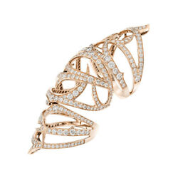 14k Rose Gold Lab Created 3.50ct Diamond Round Cut Cocktail Ring Size 8