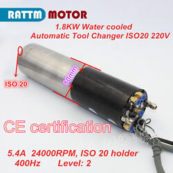 1.8kw Automatic Tool Change 220v Atc Water Cooled Spindle Motor Iso20 Engraving