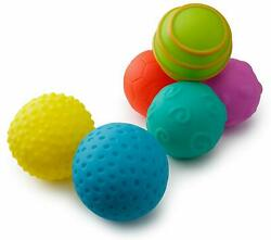 Playkidiz Super Durable 6 Pack Balls Soft for Toddlers Stress Relief Toy $12.49