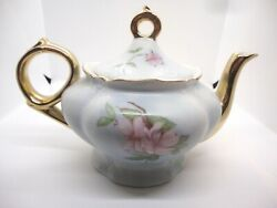 Vintage Lefton Musical Porcelain Teapot With Music Box 1989 And Numbered