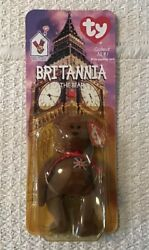 Mcdonalds Ty Beanie Baby Britannia Bear With Errors - Refer To All Pictures