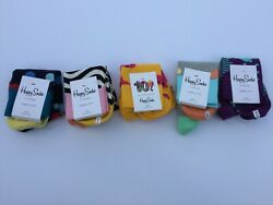 Happy Socks Perfect Gift Lot of 5 Assorted Patterns Size 10-13