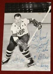 Vintage 1963 Rochester Americans Team Issued Hockey Photo Signed By Don Cherry