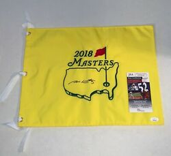 Jim Nantz Signed 2018 Masters Pin Flag A Tradition Unlike Any Other Cbs Jsa