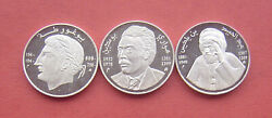 Algeria 1994 Famous People Series 10 Dinars Silver 3 Coins Mint Set Very Rare