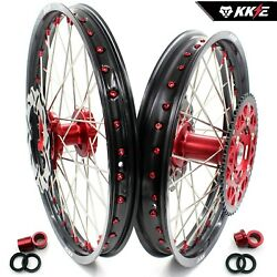 Kke 21/19 Mx Wheels Rims Set Fit Suzuki Rmz250 2007-2020 Rmz450 2005-2020 Rotor