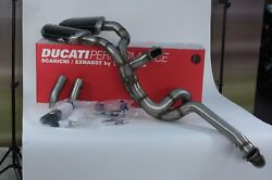 Set Exhaust Complete By Termignoni D.70mm For Ducati 848 Evo Code 96460012b