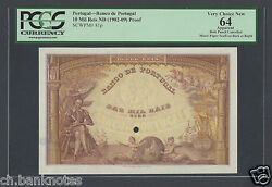 Portugal 10 Mil Reis Nd1902-09 P81p Proof Specimen Uncirculated