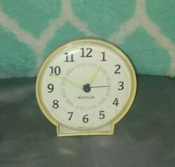 Vintage Retro Andbull Westclox Andbull Wind Up Alarm Clock Made In Usa Old Nice Collectible