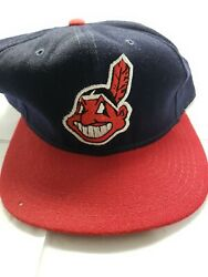 Cleveland Indians Vintage Pro Sports Specialties Chief Wahoo Fitted Hat