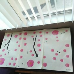 Huge Lot of Decorative Cherry Blossom Pink Wall Flowers IKEA Slatthult NEW