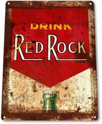 Red Rock Label Pop Cola Soda Store Advertising Retro Wall Decor Metal Tin Sign