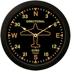Trintec 10 Vintage Directional Gyro Style Clock 9062v-10 Great Gift For Pilots