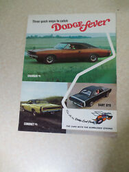 1960s Dodge Fever - Charger R/t Dart Gts And Coronet R/t Advertising Booklet