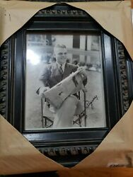 James Cagney Jsa Authentic Period Autographed Framed Photo