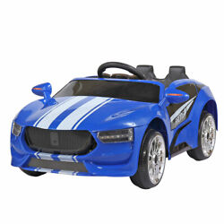 Electric Kids Ride On Car 6v Motor Toys Gift Cars W/remote Control Music Blue