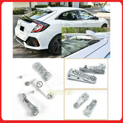 For 16-19 Civic Hatchback Bracket-192-sil Silver Rear Roof Wing Riser Extensions