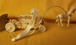 Classic Wedgwood Horse And Carriage Ornament White And Gold Signed Original Box