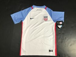 2015-2016 Usa Soccer Nike Home Stadium Jersey Youth Unisex 724706 Authentic