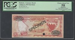 Bahrain One Dinar L.1964 P4s Specimen Tdlr N002 About Uncirculated