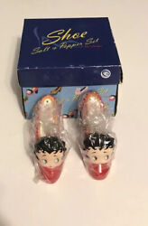 1999 New Betty Boop Shoes Salt And Pepper Shakers Brand New Still In Package