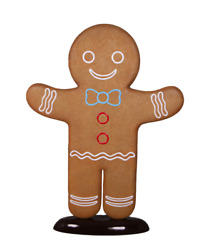 Gingerbread Man Cookie Display Prop Christmas Decor Statue