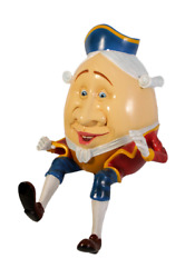 Humpty Dumpty Sitting Life Size Statue Cartoon Prop Display Stool Not Included