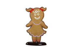 Gingerbread Girl Cookie 2 Christmas Display Prop Decor Statue