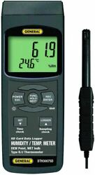 General Tools Dth3007sd Data Logging Thermo-hygrometer With Excel Formatted Sd