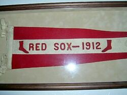 IMPOSSIBLE 1912 Boston RED SOX PENNANT STUNNING EXAMPLE ULTRA SCARCE