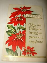 May The New Year Bring You Peace And Happines 1913 Post Card Stamp One Cent