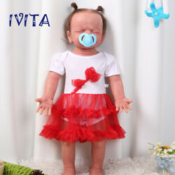 Ivita 22and039and039 Reborn Doll Closed Eyes Newborn Baby Girl With Skeleton Xmas Gift Toy