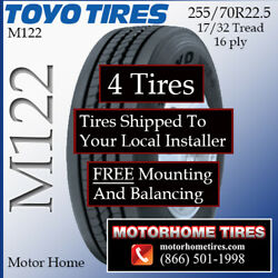 Motor Home Tires 255 70r22.5 Toyo Includes Shipping And Installation