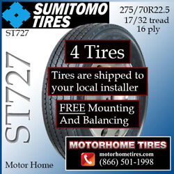 275/70r22.5 Rv Tires Motor Home Tires Sumitomo Includes Shipping And Installation