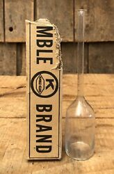Vintage Kimax Brand Babcock Milk And Cream Testing Apparatuses Bottle With Box