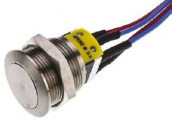 Apem Push Button Switch 5a Momentary Spdt, Through Hole, Round Actuator Silver