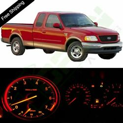 LED Red Lights Bulb Instrument Panel Dash Package Kit For 2004-2008 Ford F-150