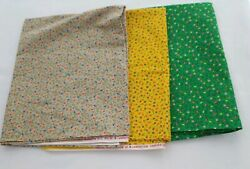 Vtg Fabric Small Floral Wamsutta Pacific OTC Quilting Sewing Crafts Lowenstein
