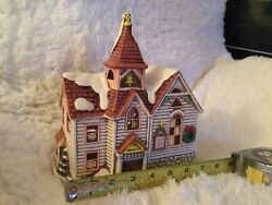 Christmas Village 1987 Lefton Lighted Colonial Village By Byron Woods 06334