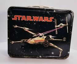 Star Wars Metal Lunchbox Original 1977 King Seely White Clasp And Handle
