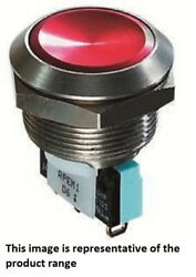 Apem Push Button Switch 5a 250v Ac Momentary Spdt,solder Terminal, Round Natural