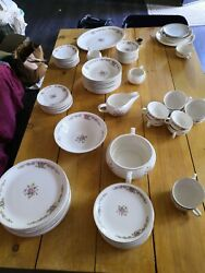 The Paden City Pottery Co, Usa, Floral, Pink, 10 Place Setting