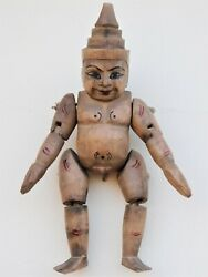 Antique Asian Wooden Marionette Puppet Toy Jointed Doll Figure