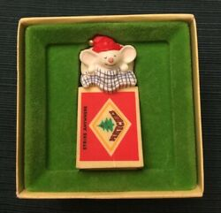 Hallmark Tree Trimmers Collection Mouse In Matchbox Vintage Christmas Ornament