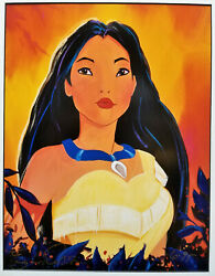 Signed Giclee Lithograph Pocahontas By Eric Robison Retired Art Print Disney