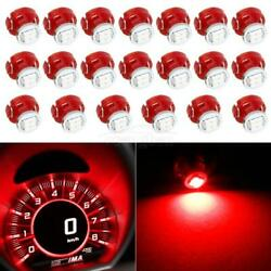 20x T3 Neo Wedge Red LED Bulb AC Climate Flat Top Lights Lamps 12V