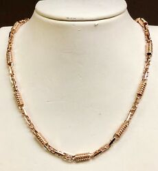 10kt Rose Gold Handmade Fashion Mens Chain/necklace 18 5mm 38 Grams