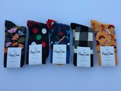 Happy Socks Perfect Gift Lot of 5 Assorted Patterns Size 9-11
