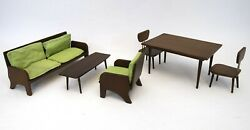 Rare Vtg 1950and039s Red Robin Wooden Chairs And Tables Dollhouse Set | Made In Japan