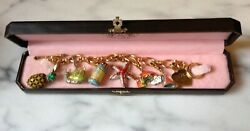 Juicy Couture 6 Charms And Bracelet Pineapple, Starfish, Bubbles, Snail, Bikini...
